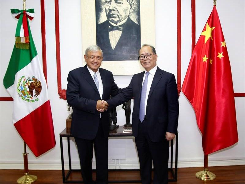 AMLO explora aumentar el intercambio comercial con China