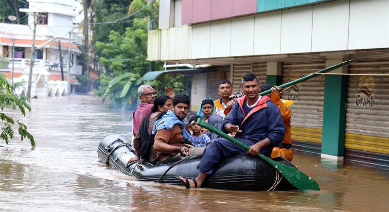 Inundaciones en India: el estado Kerala sufre fuertes lluvia