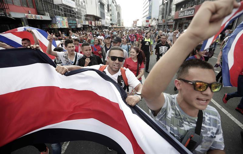 Marcha en Costa Rica: detienen a 44 por violenta protesta