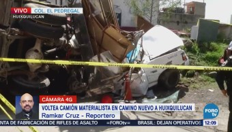 Accidente automovilístico múltiple en Huixquilucan deja un muerto