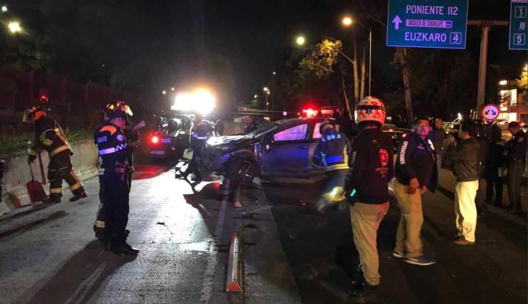 Accidente automovilístico deja dos heridos en Insurgentes Norte