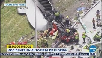 Accidente en autopista de Florida entorpece la circulación