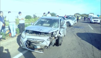 Choque múltiple en la carretera Silao Irapuato afecta tránsito