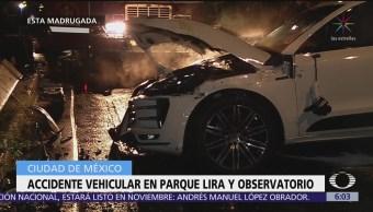 Accidentes automovilísticos en la CDMX dejan tres lesionados