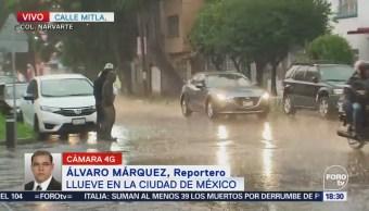 Activan alerta naranja en Benito Juárez por lluvia
