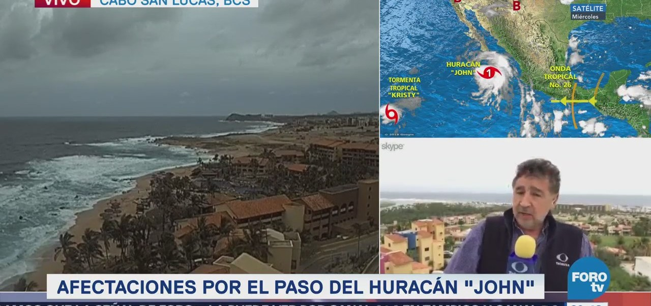 Afectaciones Huracán John Costas BCS Cabos