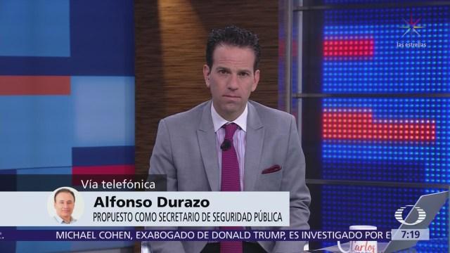 Alfonso Durazo se pronuncia sobre el caso Elba Esther