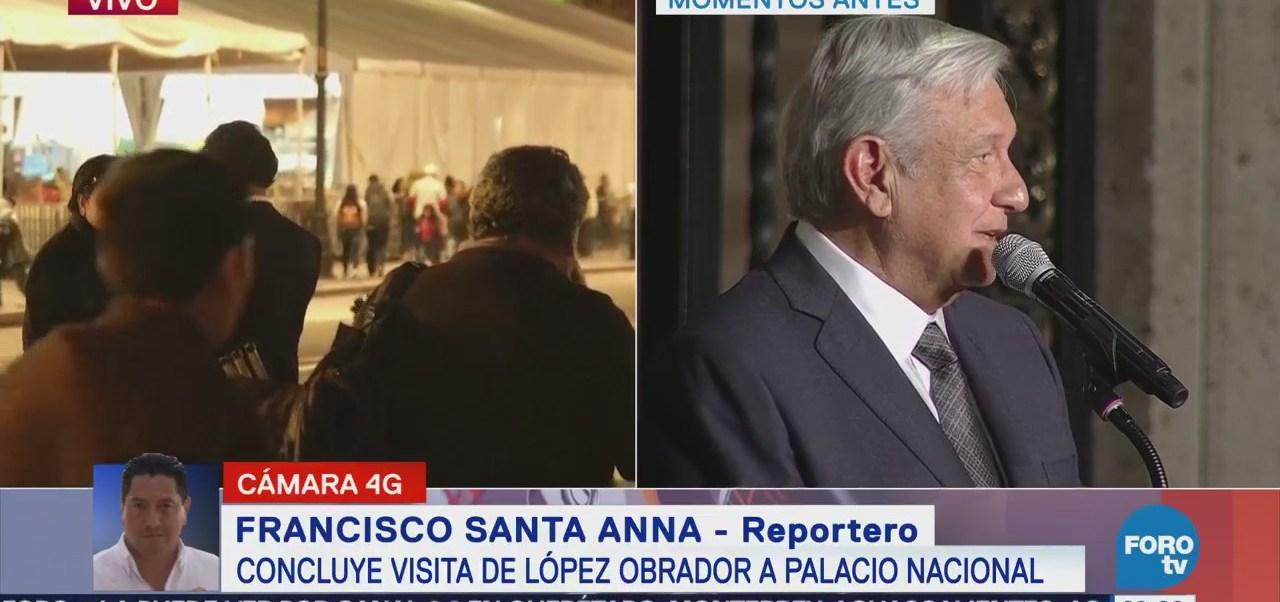 AMLO Abandona Palacio Nacional Reunión EPN