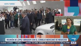 AMLO se reúne con el Consejo Mexicano de Negocios