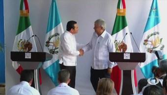 AMLO se reúne con el presidente de Guatemala