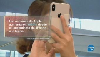 Apple logra un valor histórico en la Bolsa