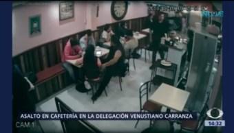 Asaltan Cafetería Delegación Venustiano Carranza Robarles Lo Celulares Golpean A Clientes