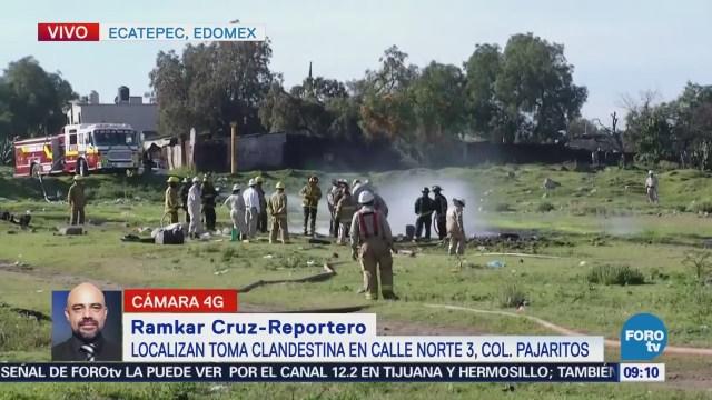 Atienden toma clandestina de combustible en Ecatepec