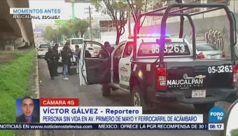 Atropellan a hombre en avenida Primero de Mayo, Naucalpan