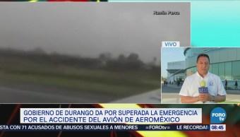 Ayudan a extranjeros del avión de Aeroméxico siniestrado a tramitar documentos