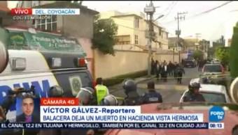 Balacera deja un muerto en la colonia El Mirador, Coyoacán