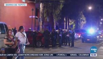 Balacera en Tepito provoca heridas a cuatro personas