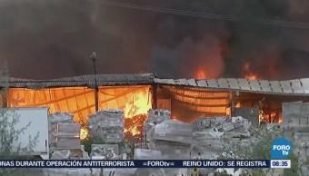Bomberos Combaten Incendio Apodaca Nuevo León