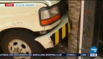 Camioneta De Valores Choca Contra Negocio Villa De Aragón Cdmx Ciudad de México