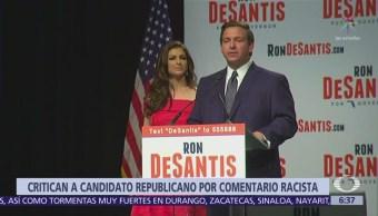Candidato republicano en Florida, criticado por expresión racista