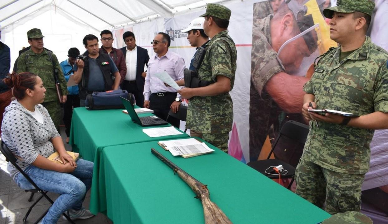 SSP-Edomex espera recibir más de 2 mil armas del programa de canje 2018