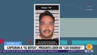 Capturan en Morelos al presunto líder de 'Los Viagras'