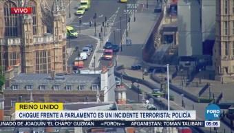 Choque frente a Parlamento británico es incidente terrorista