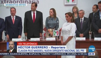 Claudia Ruiz Massieu nueva dirigente nacional del PRI