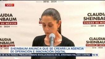 Claudia Sheinbaum Agencia Operación Innovación Digital