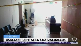 Comando armado intenta robar cajero automático de hospital en Coatzacoalcos