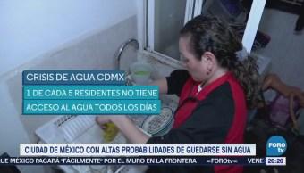 Crisis de agua en la Ciudad de México