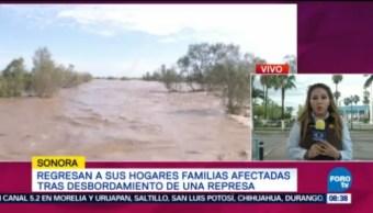 Damnificados Desbordamientos De Represa Sonora Cuantifican Daños Regresan A Sus Hogares Familias Afectadas