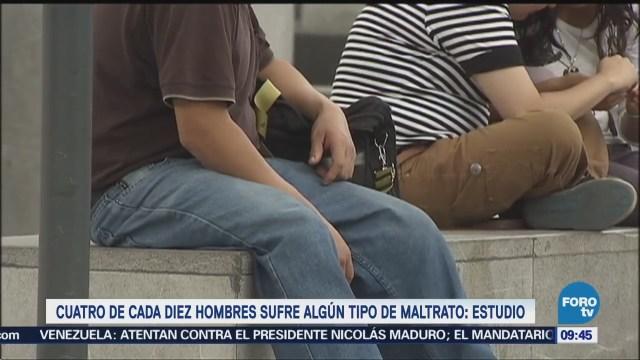 Cuatro de cada 10 mexicanos son violentados por una mujer, revela estudio