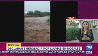 Declaran Emergencia Lluvias Nogales Sonora Corresponsal Erika Palma