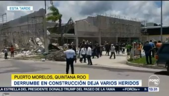 Derrumbe Construcción Deja Varios Heridos Puerto Morelos Quintana Roo