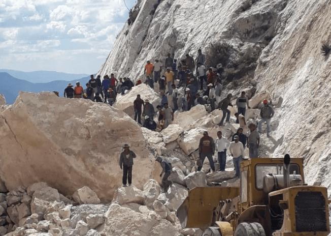 Derrumbe en mina de Hidalgo deja a 4 personas atrapadas