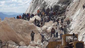 Rescatan quinto cuerpo tras derrumbe en mina de Hidalgo
