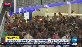 Desalojan terminal del Aeropuerto de Frankfurt
