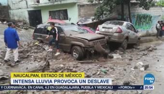 Deslizamiento Tierra Arrastra Autos Naucalpan