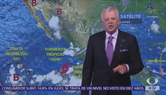 Despierta con Tiempo: Tormentas 'John' e 'Ileana' provocan lluvias