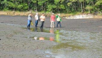 Detectan grietas y deslizamientos de tierra en Laguna de Chakanbakan
