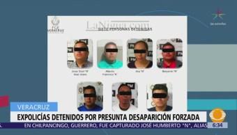 Detienen a 7 expolicías en Veracruz por desapariciones forzadas