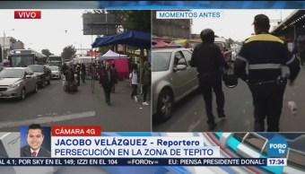 Detienen a dos personas en Tepito