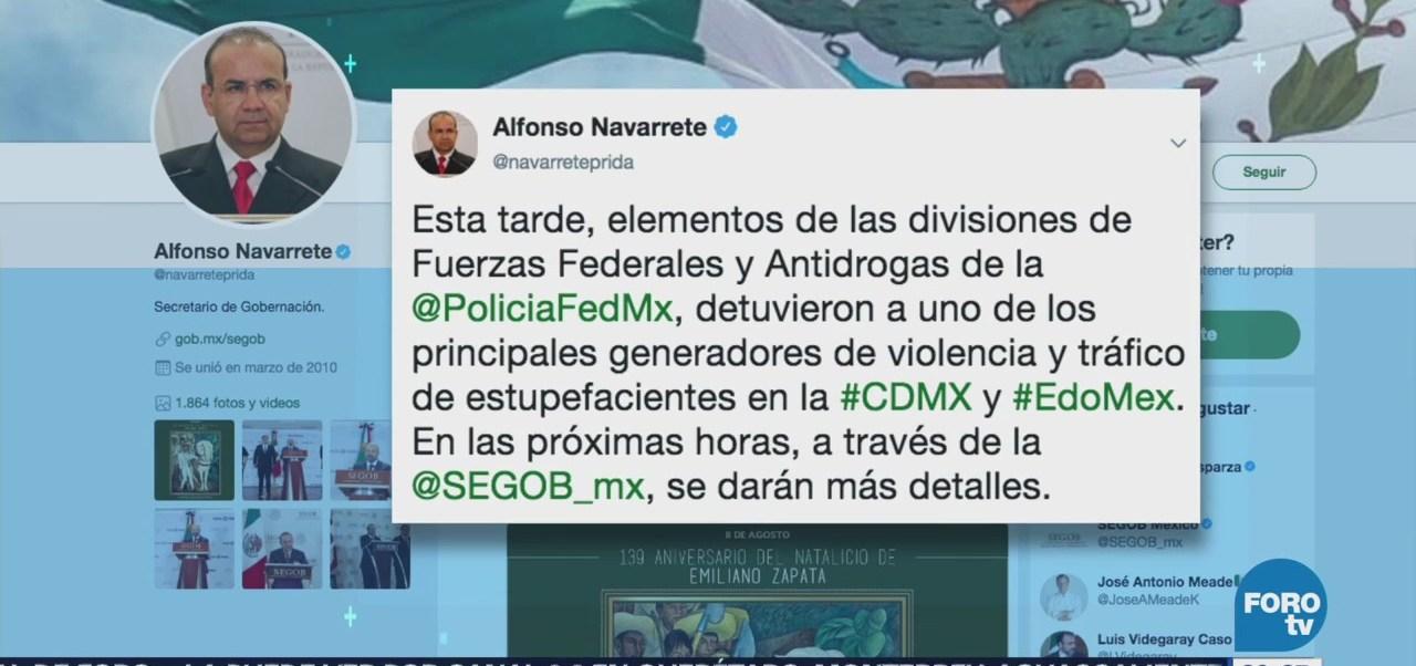 Detienen Principales Generadores Violencia Tráfico Drogas Cdmx Edomex