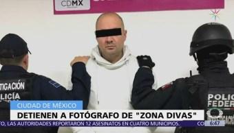 Detienen en CDMX al fotógrafo de la web 'Zona Divas'