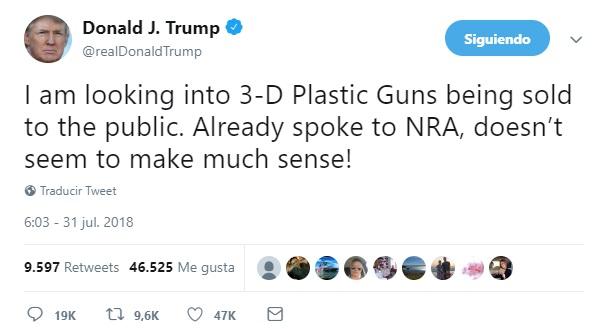 Estados Unidos frena impresión de armas 3D