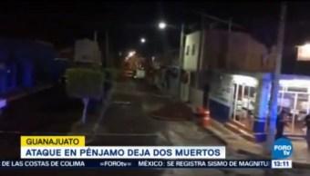 Dos Muertos Balacera Municipio Pénjamo Guanajuato