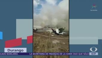 Durango Avión de Aeroméxico se despistó