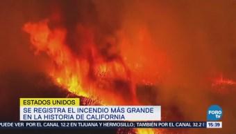 El incendio más grande en la historia de California
