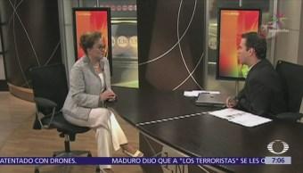 Elba Esther Gordillo con Carlos Loret, hace 10 años